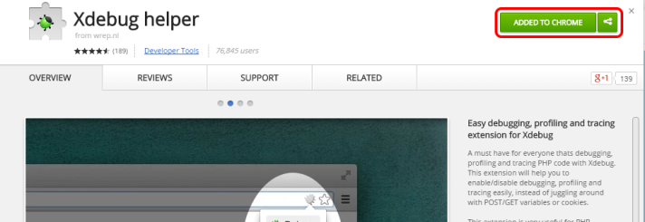 Xdebug Helper in Chrome Store