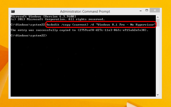 Copy the current boot configuration