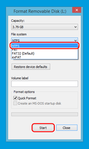 Format your USB Disk