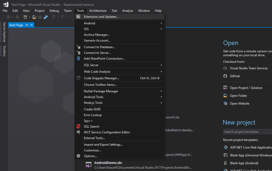 Continuous Delivery Right from Visual Studio: Creating a